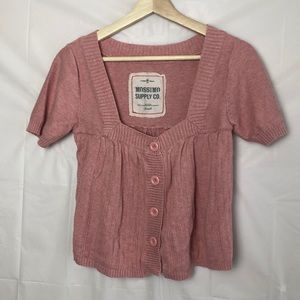 Mossimo Supply Co Button Front Crop Sweater
